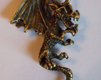 ❥ Pendant dragon creature legendary mythology metal bronze