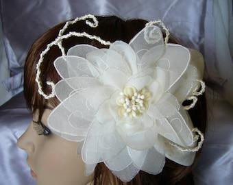 chiffon flower headband