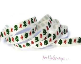 1 meter printed Ribbon Christmas trees red, green Christmas scrapbooking card making 15 *.