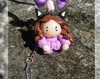 Imp figurine fairy decoration-  Magic decoration- Fairy decoration baby and children bedroom- Pixie figurine suspended