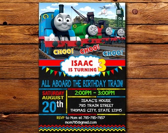 Thomas The Train Invitation,Thomas The Train Birthday,Thomas The Train Birthday Invitation,Thomas The Train Party,Thomas The Train -424