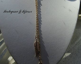 NECKLACE MULTI chains Original alloy leaf charms euramerican costume jewelry for evening, everyday jewelry