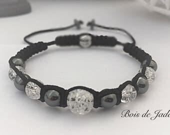 Women bracelet woven reference BJ - 134