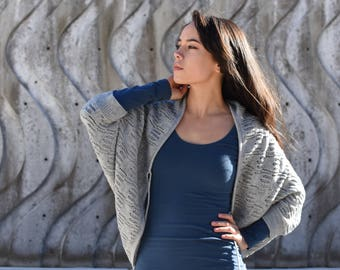 100% Alpaca Shawl / Shrug / Sweater / Convertible Scarf