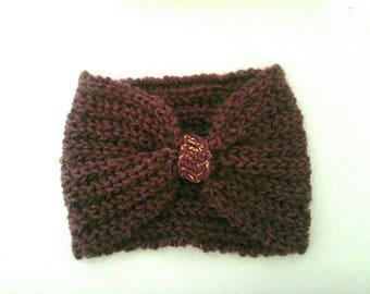 Purple English coast wool headband