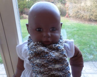 knitted with a wool scarf for baby