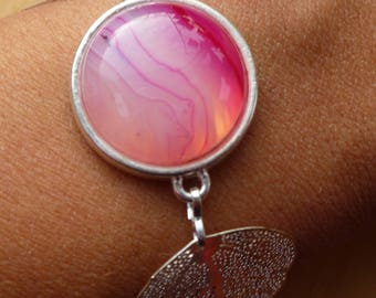 "Bracelet ""Rose"" cabochon"