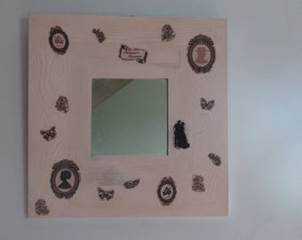 Vintage pink - shabby chic mirror