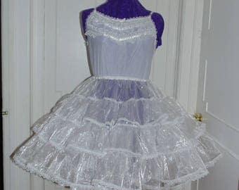 Organza Crinoline Petticoat Adult Baby Sissy Dress Custom Made