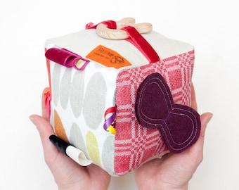 Activity Cube; Sensory Cube; Montessori; Busy Cube; Plush Toy; Soft Blocks; Quiet Blocks; Teether; Textile toy; Quiet Book; Activity Book