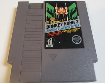 Donkey Kong 3 Vintage NES Game Cartridge - Tested and works!