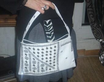 flashy shiny small white pouch bag