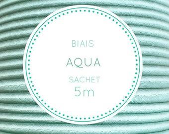 Sachet 5 m bias - Aqua, 08