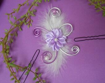 Purple, purple, white and silver Bridal