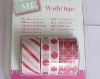 Set of 3 adhesive washi tape
