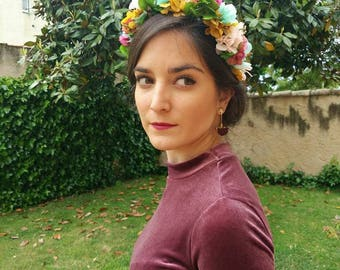 Preserved flowers headband