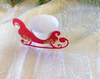 Christmas sled napkin ring