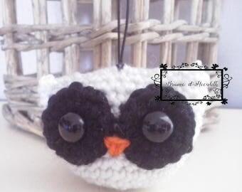 Amigurumi OWL white and black