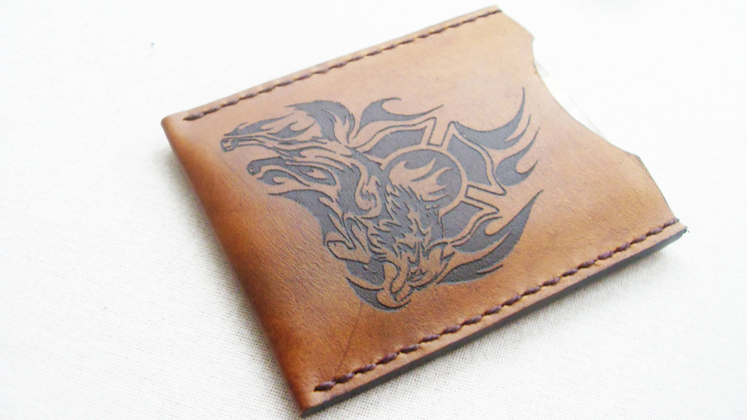 Leather wallet Leather Card Holder FREE MONOGRAM wallet Business