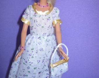 Small floral cotton (B209) short dress