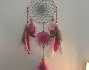 Pink soft dream catcher