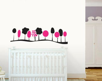 Baby Nursery Tree wall decal-Nursery Wall Decals-Wall stickers for bedroom-Trees wall stickers-Nursery vinyl decals-Kids room decor
