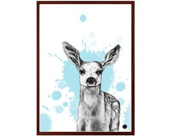 """Illustration/print of """"Deer"""""""