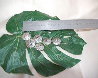 set of no.9 metal buttons 6 pieces