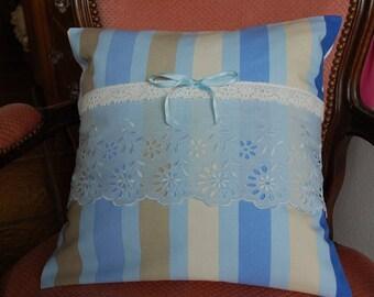 Blue striped Cushion cover 40/40