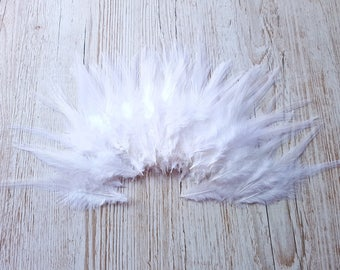 Long white feathers