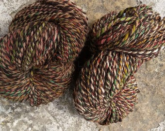 540 g of hanspun wool - Ouessant-Alpaca-Shetland