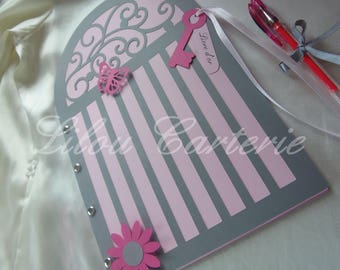 Glamorous and classy wedding guestbook