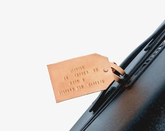 Personalized Leather Luggage Tag, Customized Gift, Wedding Gift, Groomsmen Gift