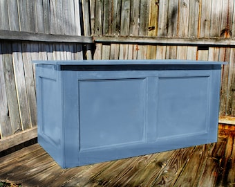 Blue, Large Hope Chest, Toy Chest, Trunk, Coffee Table, Entry, Wooden Chest