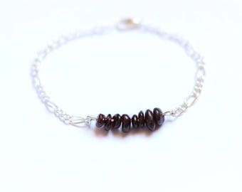 GRANA Bracelet silver red garnet gemstones