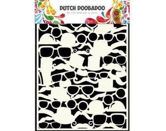 Stenciled Dutch Doobadoo Mask Mister A5 New Stencil Art