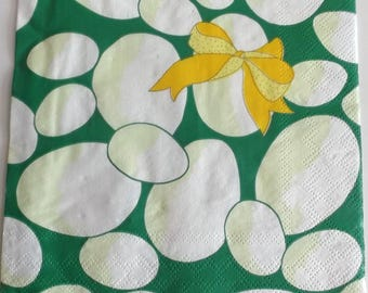 10 napkins - Easter egg colors green yellow REF.  83
