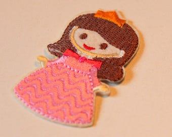 1 x badge embroidered - Princess Aurora - A stick or sew - child