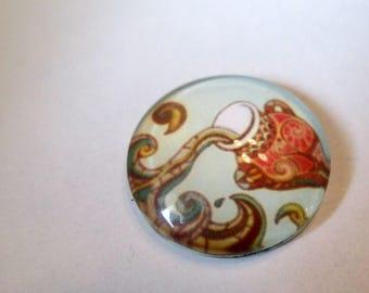 x 1 Cabochon 18mm - Aquarius Zodiac Astrology Star - Dome glass - custom jewelry