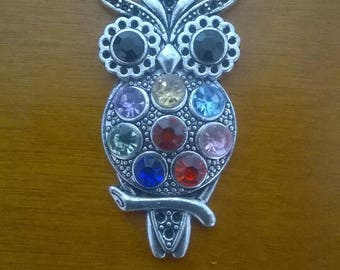LARGE OWL PENDANT SILVER