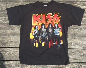 Vintage 90's KISS Alive Worldwide Tour T Shirt