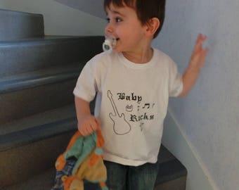 "T-shirt boy ""Baby Rocks"""