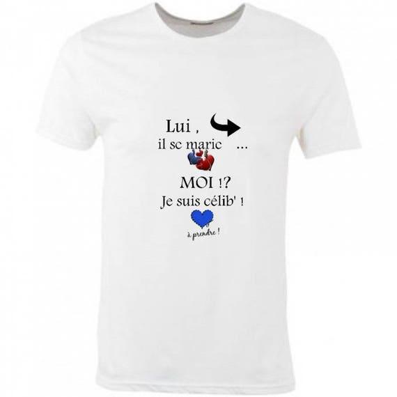 Connu T-shirt homme en coton blancenterrement vie de garcon il se DM87