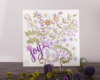 Joy Colouring Page