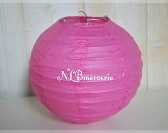Pink lanterns 35 cm rice paper lantern, Chinese ball