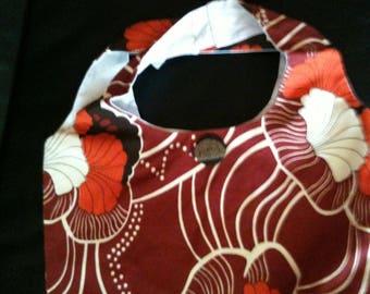 bag shoulder linen pattern floral made in france