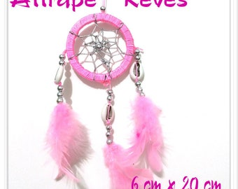 Dream catcher Dream Catcher pink feathers, pearls and shells
