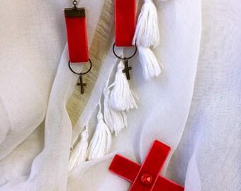 Set in red velvet vintage Bohemian