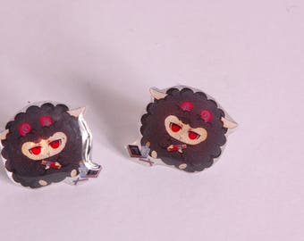 Black sheep ear studs
