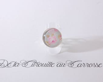 Shabby romantic, floral ring
